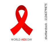 world aids day and hiv... | Shutterstock .eps vector #1136379875