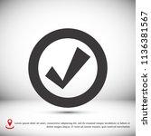 confirm icons  stock vector... | Shutterstock .eps vector #1136381567