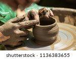 master class on modeling of... | Shutterstock . vector #1136383655