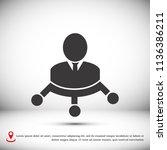 man vector icon  stock vector...   Shutterstock .eps vector #1136386211