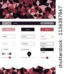 dark pink  red vector ui kit in ...