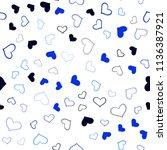dark blue vector seamless... | Shutterstock .eps vector #1136387921