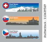 travel banners  switzerland ... | Shutterstock .eps vector #113639569