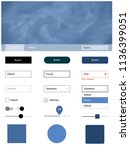 light blue vector style guide...