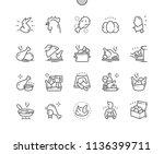 chicken well crafted pixel...   Shutterstock .eps vector #1136399711