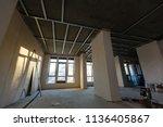 apartment repair wall repair... | Shutterstock . vector #1136405867