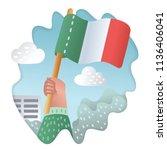 vector illustration of flag of... | Shutterstock .eps vector #1136406041