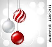merry christmas vector... | Shutterstock .eps vector #113640661