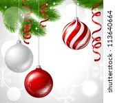 merry christmas vector... | Shutterstock .eps vector #113640664