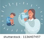vector cartoon illustration of... | Shutterstock .eps vector #1136407457