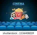 movie cinema premiere poster... | Shutterstock .eps vector #1136408039