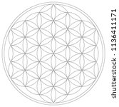 geometrical figure. sacred... | Shutterstock .eps vector #1136411171