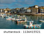 st. ives cornwall england july... | Shutterstock . vector #1136415521