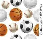 sport balls set seamless... | Shutterstock .eps vector #113641969