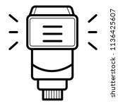 camera flash rounded icon. | Shutterstock .eps vector #1136425607