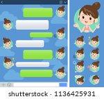 a set of swimwear style women... | Shutterstock .eps vector #1136425931