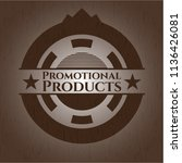 promotional products badge with ... | Shutterstock .eps vector #1136426081