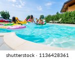 multiracial group of friends... | Shutterstock . vector #1136428361