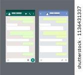 two mobile messenger mockups....