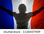 silhouette shadow of man... | Shutterstock . vector #1136437409