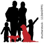 Stock vector a family silhouette 113643991