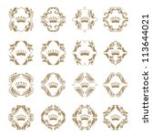 ornate vector set. victorian... | Shutterstock .eps vector #113644021