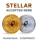 stellar. accepted sign emblem.... | Shutterstock .eps vector #1136456621