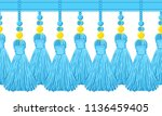 vector seamless border pattern. ... | Shutterstock .eps vector #1136459405