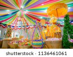 colorful artificial flowers for ... | Shutterstock . vector #1136461061