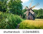 colorful summer view of...   Shutterstock . vector #1136468801