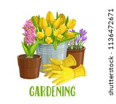 Vector Gardening Banner With...