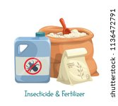 vector insecticide and... | Shutterstock .eps vector #1136472791