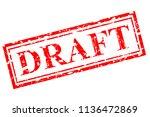 vector red rubber stamp effect  ... | Shutterstock .eps vector #1136472869