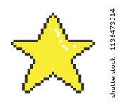 vector pixel art 8bit... | Shutterstock .eps vector #1136473514