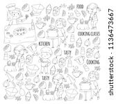 coloring page for book.... | Shutterstock .eps vector #1136473667
