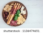 wooden board full of... | Shutterstock . vector #1136474651
