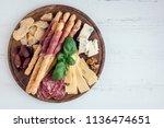 wooden board full of... | Shutterstock . vector #1136474651