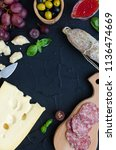 table full of mediterranean... | Shutterstock . vector #1136474669