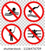 vector prohibition sign for no... | Shutterstock .eps vector #1136476709