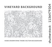 Vineyard Background. Grape ...