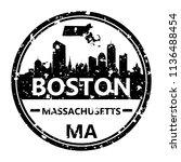 boston massachusetts travel...   Shutterstock .eps vector #1136488454