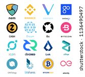 cryptocurrency coin sign vector ... | Shutterstock .eps vector #1136490497