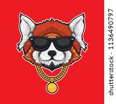 Red Panda In Hip Hop Style