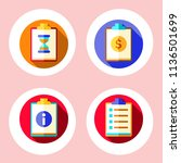 simple 4 icon set of note... | Shutterstock .eps vector #1136501699
