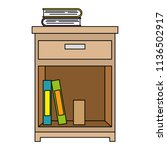 office drawer with books   Shutterstock .eps vector #1136502917