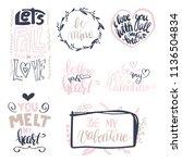 set of vector hand drawn love... | Shutterstock .eps vector #1136504834