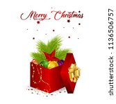 vector illustration. present... | Shutterstock .eps vector #1136506757