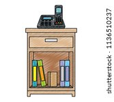 office drawer with books   Shutterstock .eps vector #1136510237