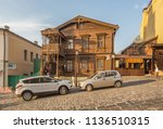 people and cars near the...   Shutterstock . vector #1136510315