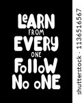 learn from everyone follow no...   Shutterstock .eps vector #1136516567
